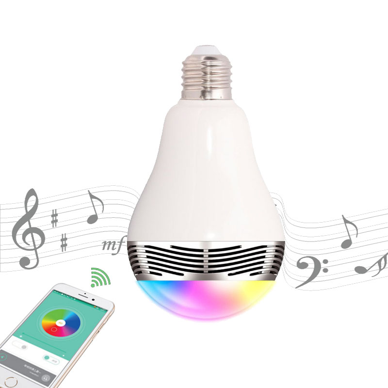 AC E27 Smart LED Bulb Lamp Night Light bulbs Wireless Bluetooth Music 2 in 1 Lighting Remote Control RGB Color Changing Dimmable mipow e27 led bulb 5w rgb light dimmable smart lighting bluetooth 4 0 wireless app control playbulb wake up lamp ac100 240v