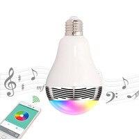 AC E27 Thông Minh LED Bulb Đèn Ánh Sáng Ban Đêm bóng đèn Không Dây Bluetooth âm nhạc 2 trong 1 Chiếu Sáng Điều Khiển Từ Xa RGB Color Changing Dimmable