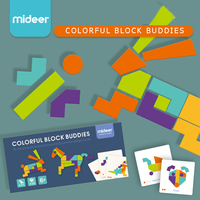 Mideer Colorful Buddies Stem Puzzle Game Children educational Learning jigsaw puzzle intelligence toys 6 Years+