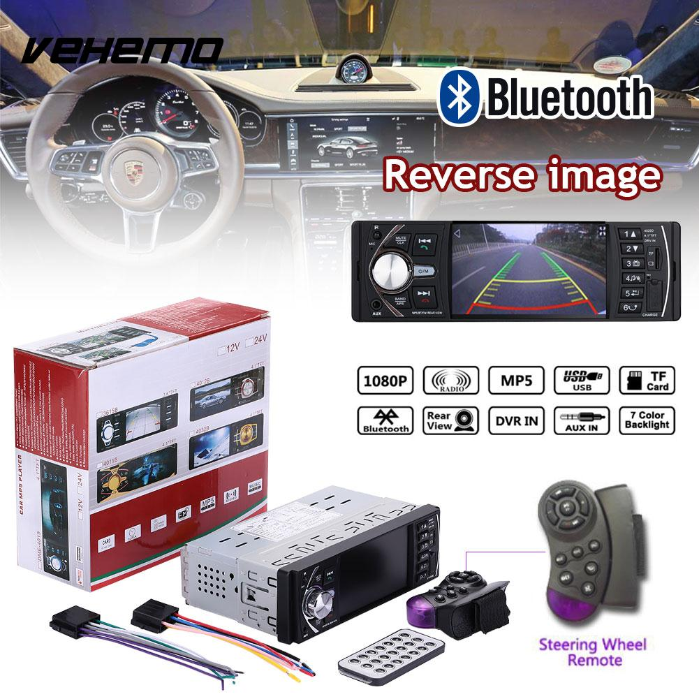 Multimedia Player Car MP5 Car Kit Automobile USB 4020D with Remote Control Video Player DC12V