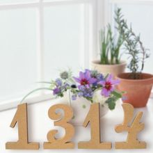10Pcs 1-10 Wood MDF Table Numbers With Stand Base For Birthday Wedding Party Home Decoration DIY