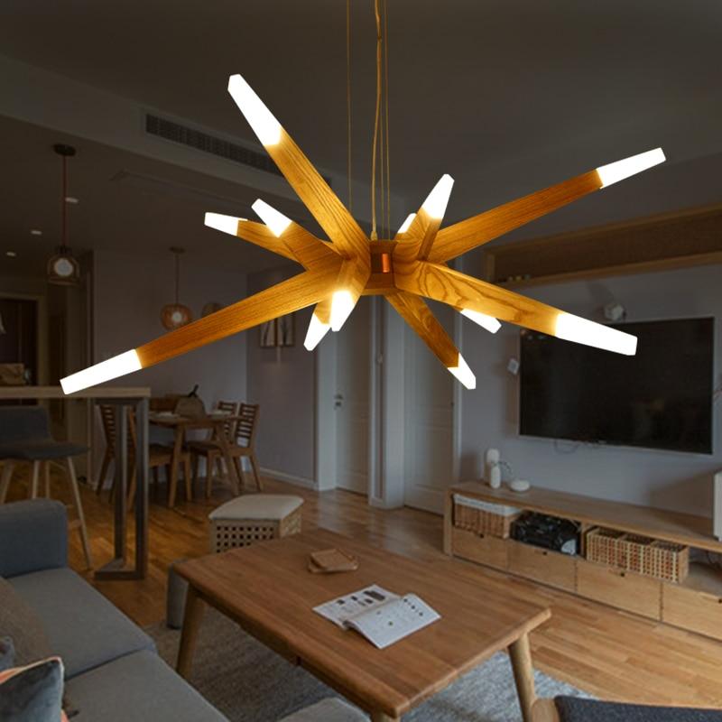 Modernas luces colgantes para comedor Modern Suspention Wooden hanging Pendant Lights Lamp for Dining room Creative pendant lamp|pendant light lamp|lamps for dining rooms|lamp for - title=