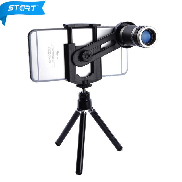 KRY Universal Telescopio Del Zumbido 8X Del Telescopio Del Teléfono Móvil Teleobjetivo Lente de la Cámara para iphone 7 lente iphone 5s 5 6 6 s 7 plus lente