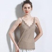 Women Clothes 2019 Lace Tank Female Sleeveless Hot Sale Fashion Haut Femme Dentelle Sweet Cold Shouder Underwear Women V-Neck цена в Москве и Питере