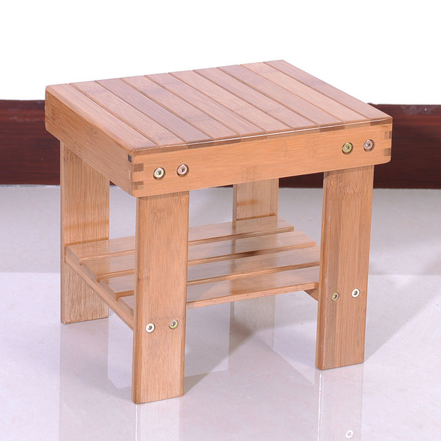 Children Bench Stool Bamboo Wood Color Dropshipping