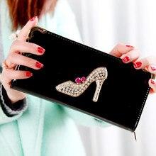 2018 mode frauen geldbörse brieftasche weibliche berühmte kartenhalter handy tasche geschenke reißverschluss kupplung taschen für frauen geld tasche