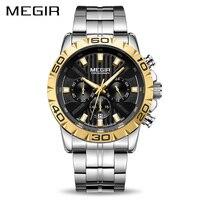2019 New MEGIR Watch Men Chronograph Quartz Business Mens Watches Top Brand Luxury Waterproof Wristwatches Relogio Masculino