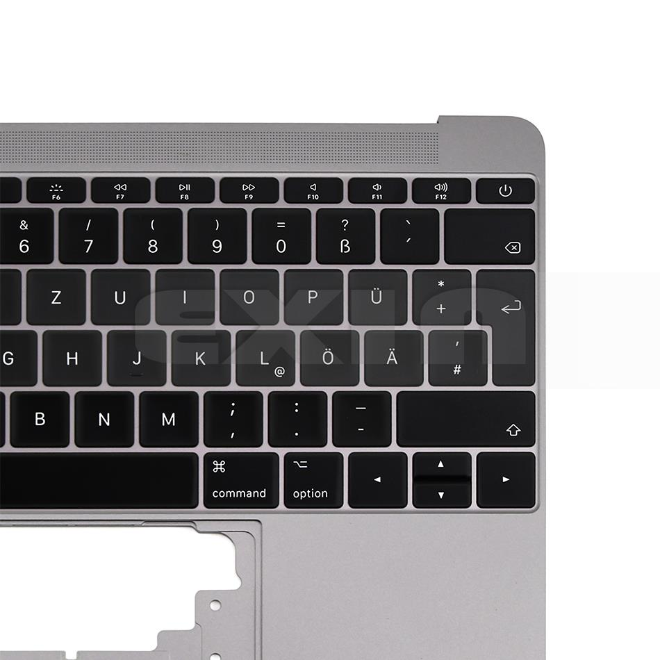 Image 5 - For Macbook 12 A1534 German Germany Deutsch Keyboard with  Topcase Top Case Gold/Gray Grey/Silver/Rose Gold Color 2015  2017Computer Cables