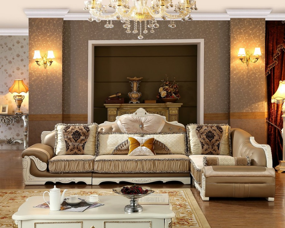 Buy 2016 sectional sofa living room muebles new arriveliving european style set Living room loveseats