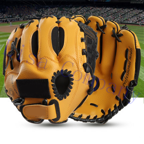 brown colour children left and right hand high quality baseball glove non-slip super soft wear-resisting