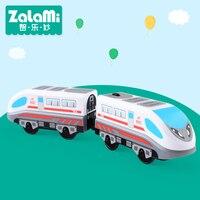 Zalami Railroad Elektryczny Pociąg Zestaw Edukacji Zabawki Kolejowe Ciężarówka Pociąg zabawki 2018 NOWY Grać na torach DIY