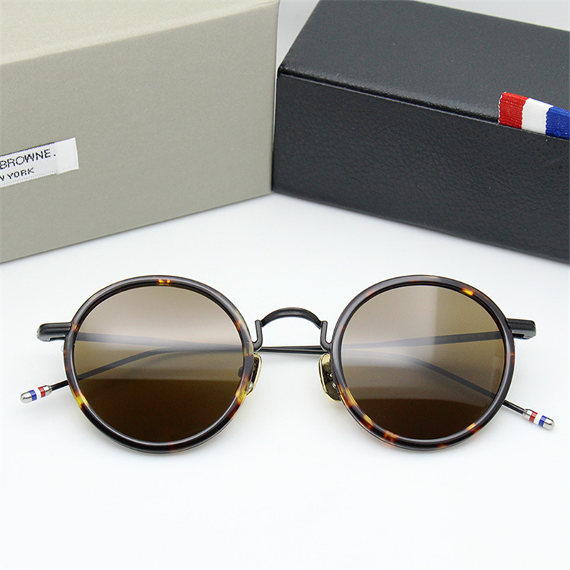 2018 New Arrival THOM Round Sunglasses Women Men Top Quality Vintage Sun Glasses UV400 Zonnebril Dames Mannen With Original Case