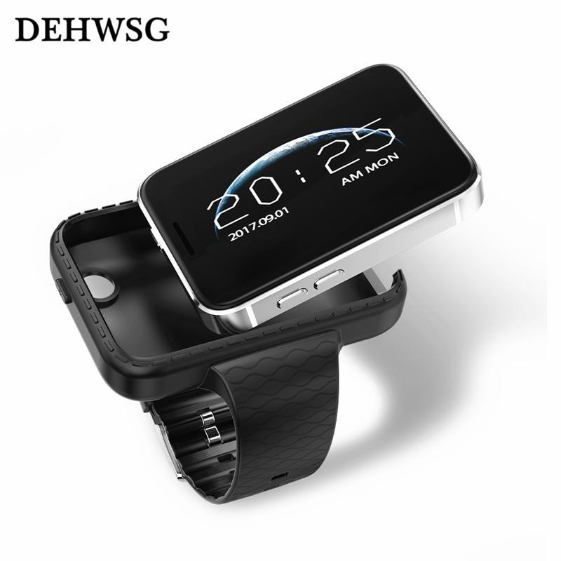 DEHWSG Nieuwe smart horloge D05 met camera 500 mah batterij ondersteuning SIM TF Card Rijden recorder kaart telefoon Voor iPhone X IOS Android-in Smart watches van Consumentenelektronica op