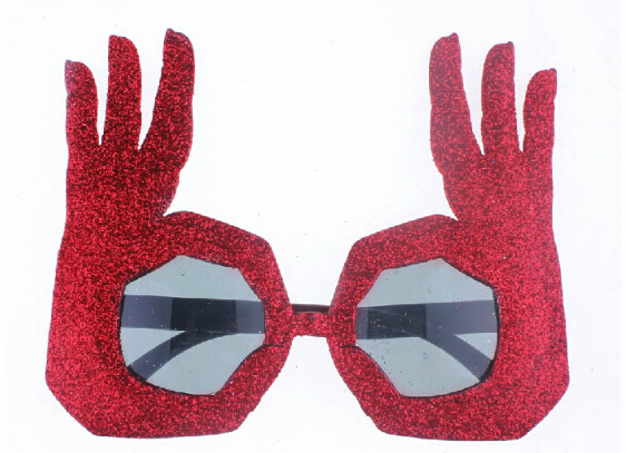 85269deb29 Novelty Fashion OK Finger Hand Gesture Costume Party Funny Glasses Cosplay  Props Unisex Sunglasses   1 pcs  -in Party Masks from Home   Garden on ...