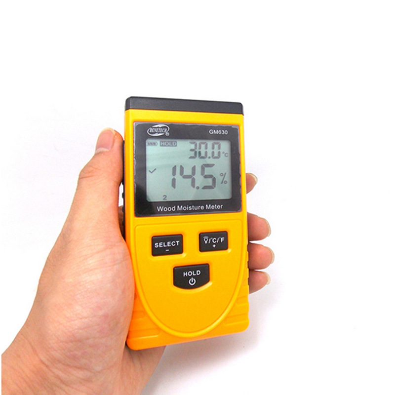 Induction type wood moisture meter, hand digital wood board moisture content measuring instrument mc7812 induction tobacco moisture meter cotton paper building soil fibre materials moisture meter