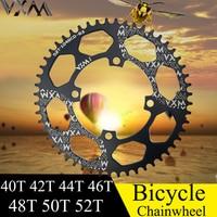 VXM Bicycle Crank 104BCD 40/42/44/46/48/50/52T Mountain Bicycle Chainwheel MTB bike crankset Aluminum Chainring Bicycle Parts