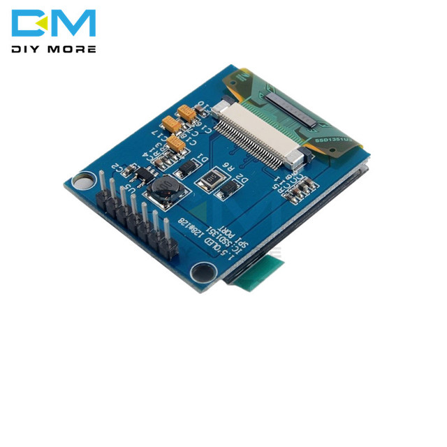 SSD1351 Drive 1.5 inch 7PIN Full Color OLED Module Display Screen  IC 128(RGB)*128 SPI Interface for 51 STM32