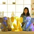 Colorido Brillante Suave Luz Intermitente LED Luminosos Elefante Elefante de Peluche de Juguete de Felpa Almohada Muñeca Regalo de Cumpleaños Del Bebé para Los Niños