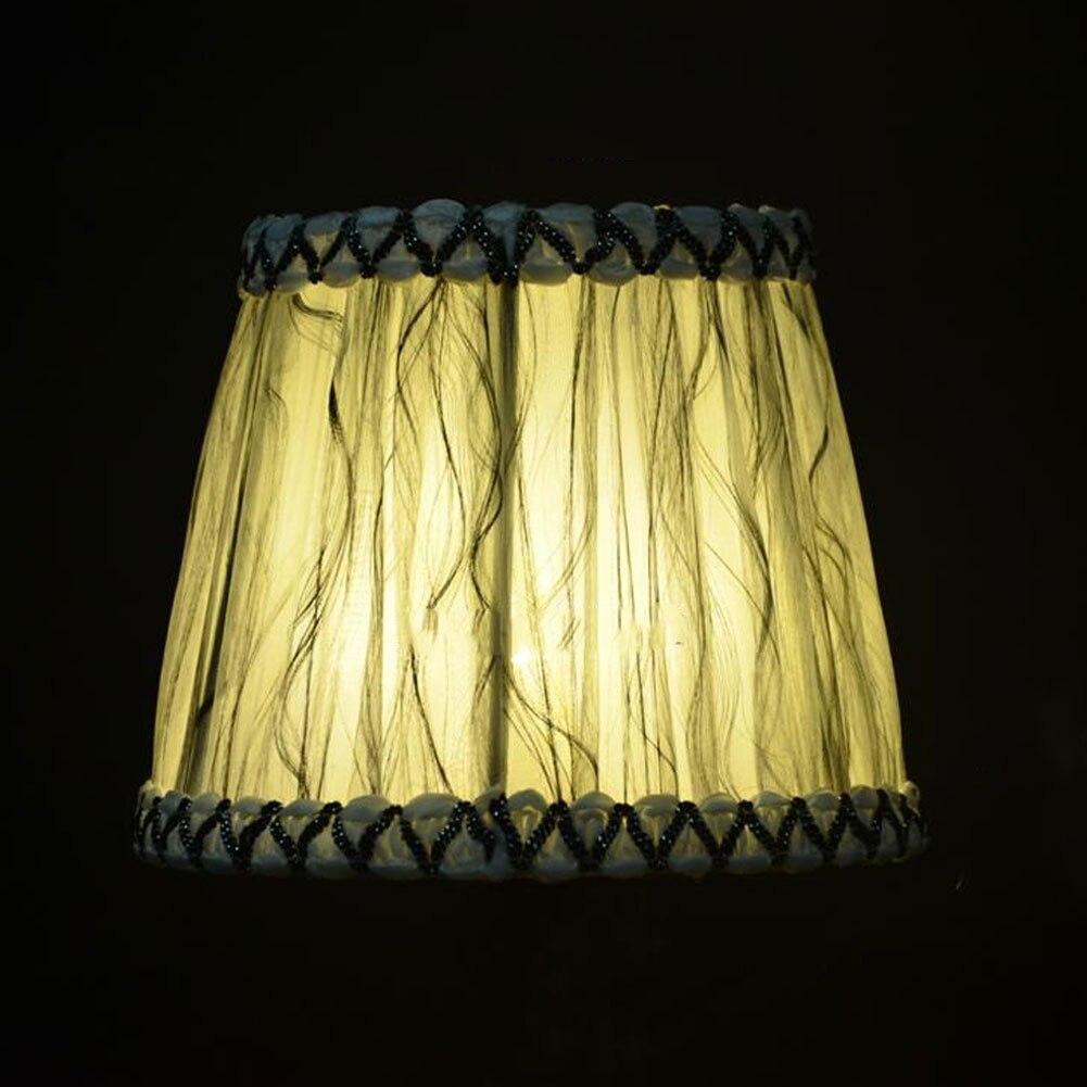 Старинная ткань Европейская хрустальная люстра со свечами настенный светильник абажур кафе