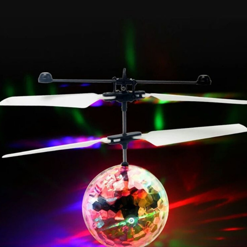 Flash Flying Ball Infrared Induction Colorful Led Disco RC Helicopter Luminous Toy Kid Christmas Gift Unisex