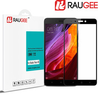 RAUGEE For 5 5 Xiaomi Redmi Note 4X Full Cover Tempered Glass High Quality 2 5D