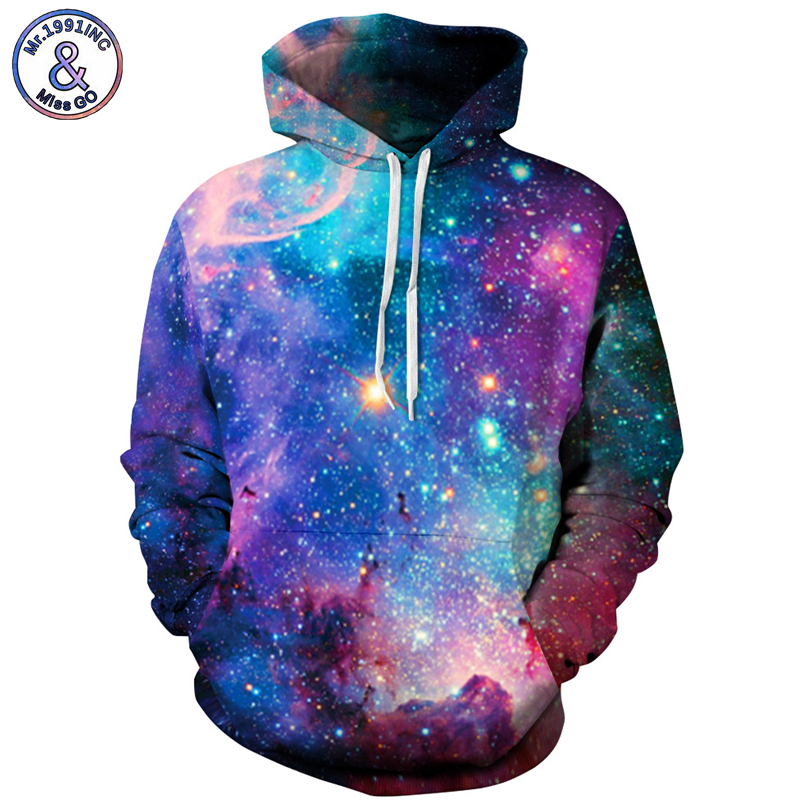 Mr.1991INC Europe America Hot Space Star Sky Casual Sweatshirts Men Hooded Hoodies Men Pullovers hoodie Sweatshirt S-3XL M001