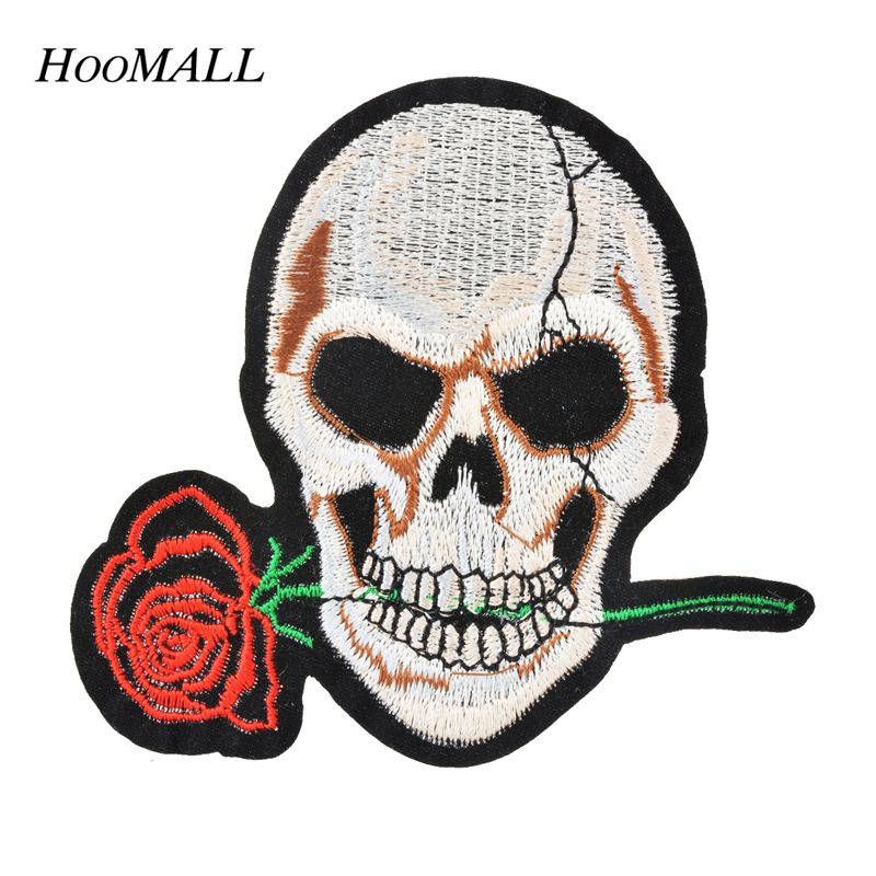 Hoomall brand punk skull patches for clothing