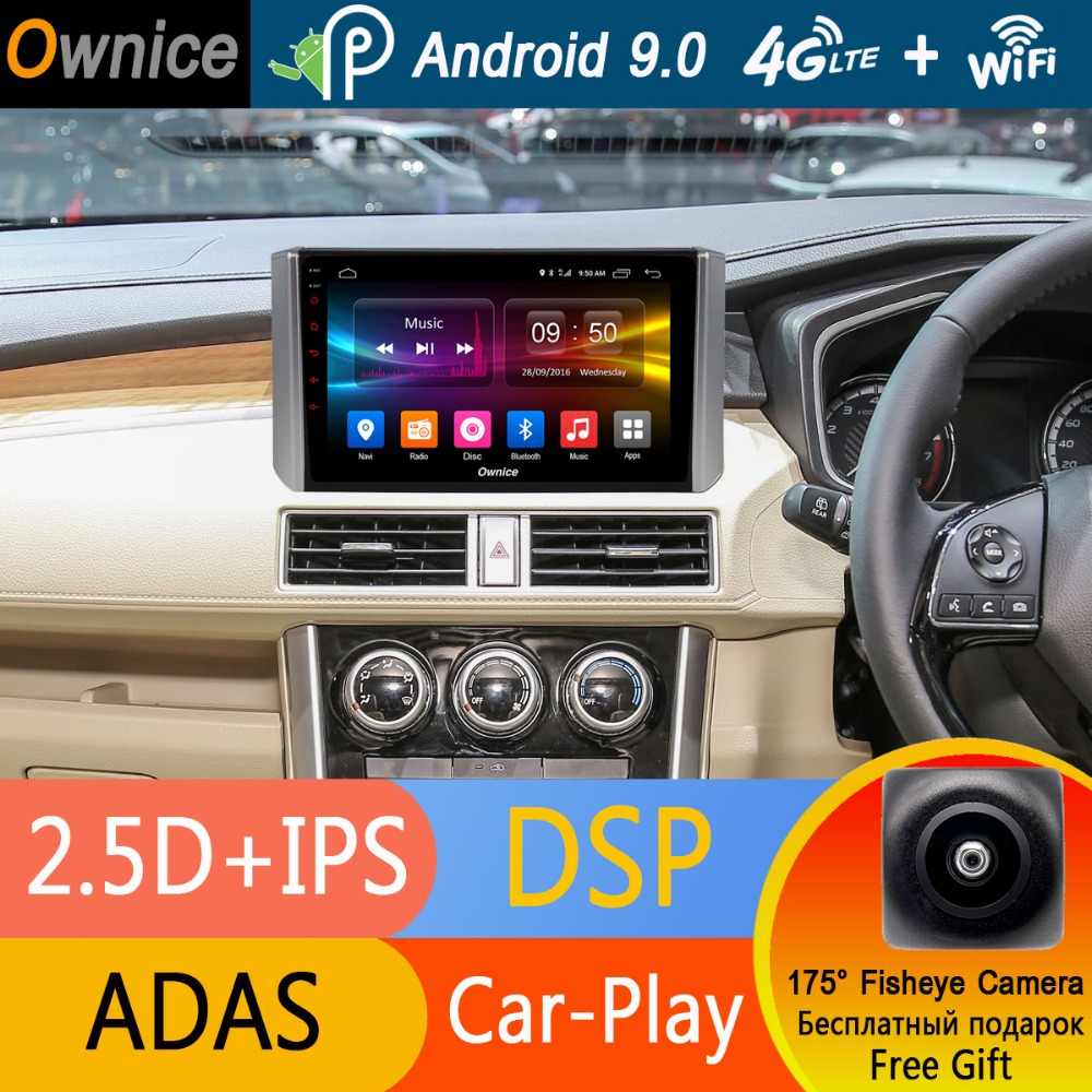 "9 ""1Din ips Android 9,0 Octa Core 4 г + 32 DVD плеер автомобиля для Mitsubishi Xpander 2017 2018 2019 GPS Радио Стерео ADAS DSP CarPlay"