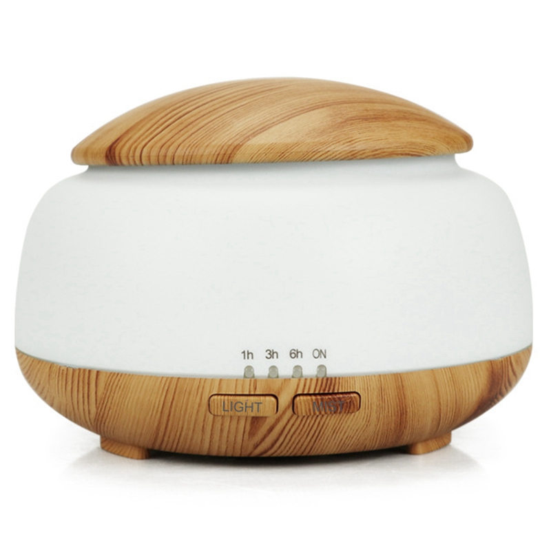 300Ml Ultrasonic Air Humidifier Aroma Essential Oil Diffuser With Wood Grain 7 Color Changing Led Lights For Bedroom Living Ro300Ml Ultrasonic Air Humidifier Aroma Essential Oil Diffuser With Wood Grain 7 Color Changing Led Lights For Bedroom Living Ro