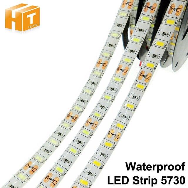 Tira de luces LED Flexible, 5730, 12V, 60LED/m, 5m, 300 LED, más brillante que 5050, 5630