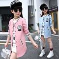 Girls Baseball Jackets Spring & Autumn 2017 Teenage Girls Hoodies Outerwear Children Long Tops Fashion Kids Clothes Girl Coats