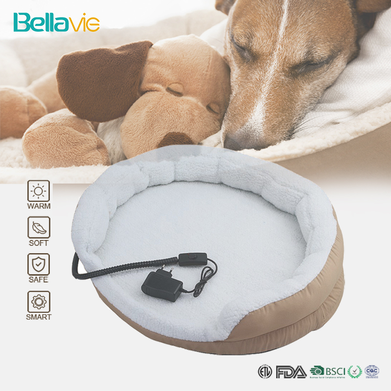 Electric Heating Pad Pet Heated Pet Bed Mat for Dog Puppy and Cat with Chew Resistant Cord Waterproof Removable Cover Bellavie dual pvc mesh pet dog cat toilet bed pan blue size s