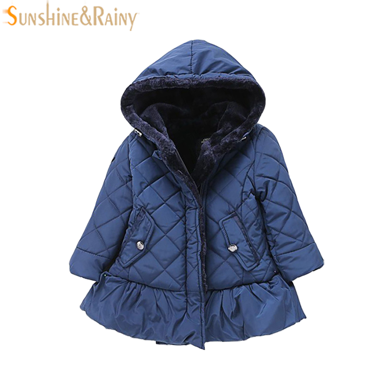 Children Faux Fur Coat Winter Girls Coat Jackets Hooded Kids Clothes Toddler Outerwear Girl Outfit Thicken Warm Coat Girl Parkas