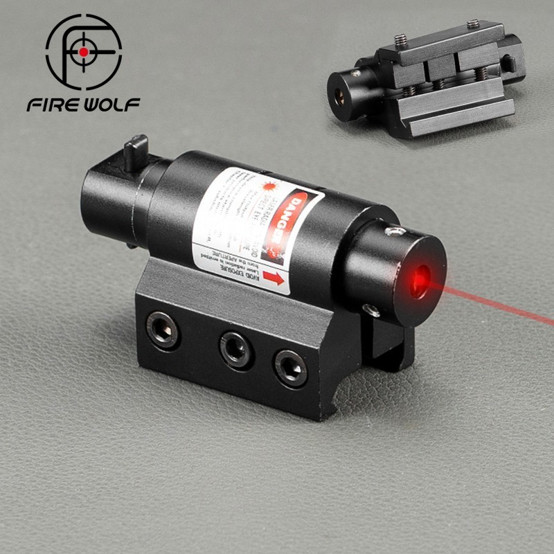 Tactical Mini Red Laser Sight For Rifle Scope Airsoft 20mm Weaver Picatinny Mount Hunting Scopes Air Soft Tactical Laser Pointer