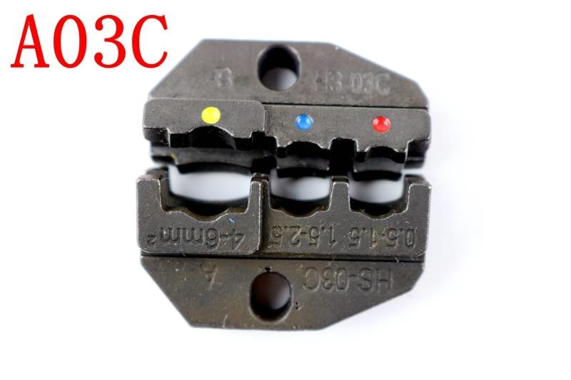 1 Pcs A03c Sterben Sets Für Hs Hs-03c Fse-03c Bin-10 Em-6b1 Em-6b2 Crimpen Piler Crimpen Maschine Werkzeug 0,5 -1,5 1,5-2,5 4-6mm2 Moderate Kosten