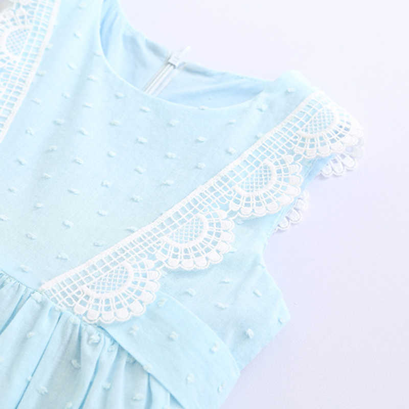 الفتيات اللباس 2019 الصيف العلامة التجارية الفتيات الملابس أكمام الدانتيل سترة الأميرة اللباس لفتاة الاطفال حزب اللباس ل 2 6 7 سنوات