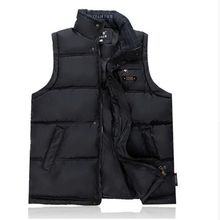 Brieuces Middle-aged women fall and winter down vest male middle-aged father loaded thick warm waistcoat big yards 4XL