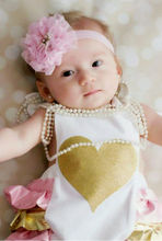 Cute Newborn Baby Girls Summer Clothes Love Ruffle Sleeveless Romper Jumpsuit Summer Sunsuit
