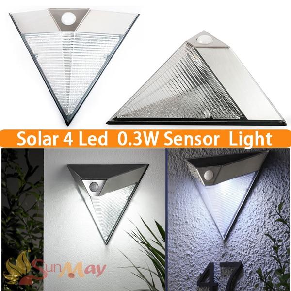 ФОТО 0.3W 4 LED Solar Sensor Lighting Solar Lamp Powered Panel LED Street Light Outdoor Path Wall Emergency Lamp Security Spot Light