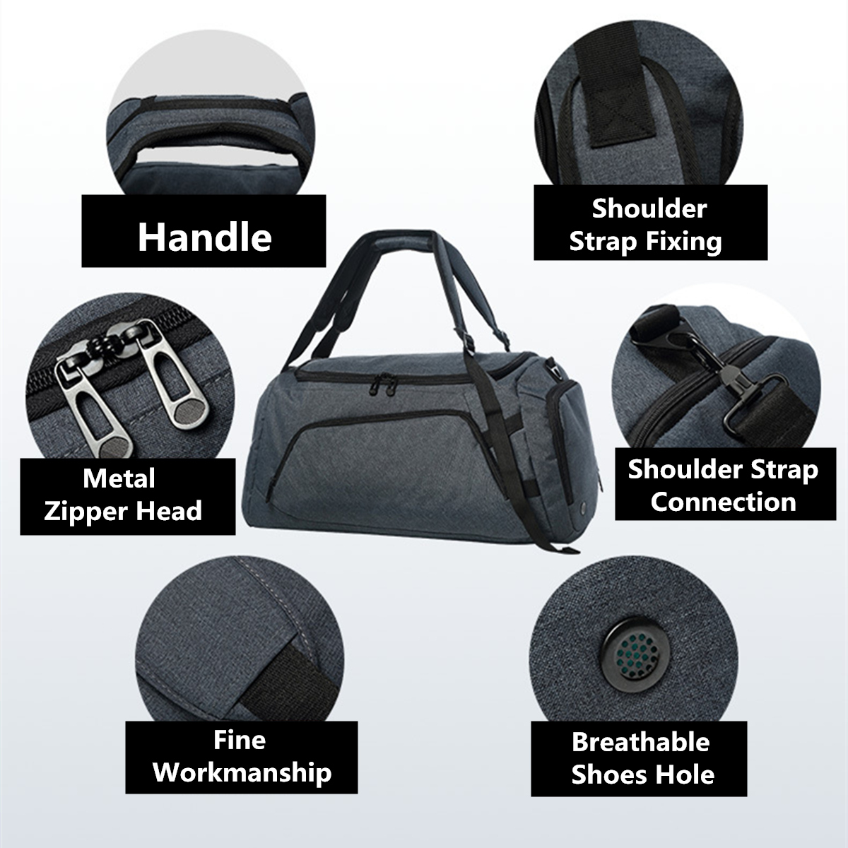 Travel Bag With Shoes Pockets Large Capacity Men Hand Luggage Travel Duffle Bags Weekend Bags Women Multifunctional Travel Bags tuguan new travel bag large capacity men hand luggage travel duffle bags oxford fabric weekend bags backpack travel bags