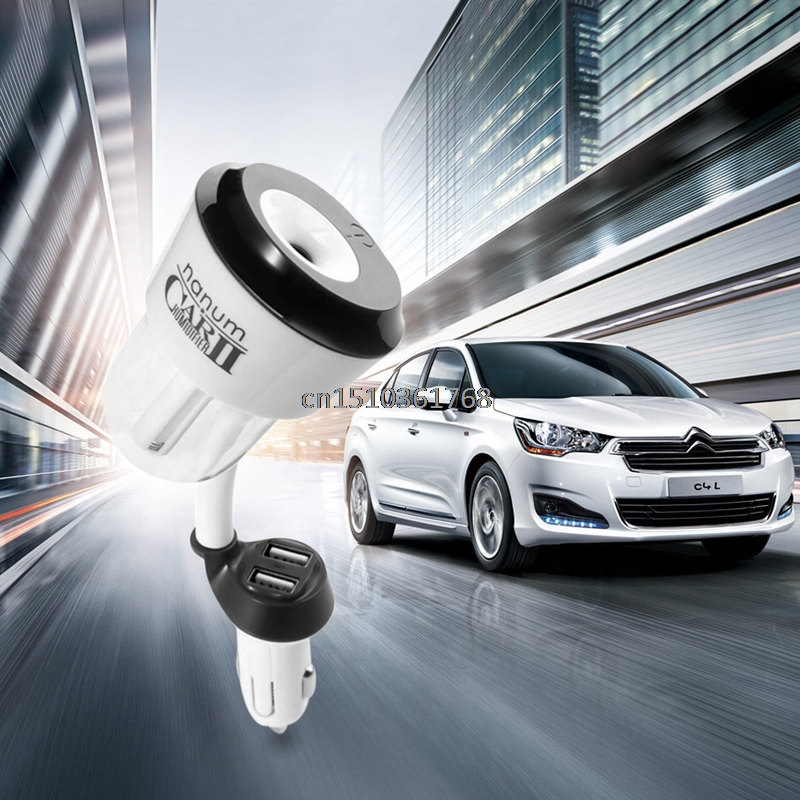 Durevole Mini Automobile Umidificatore Olio Aroma Mist Diffusore Purificatore 1/2 Porte USB # Y05 # # C05 #