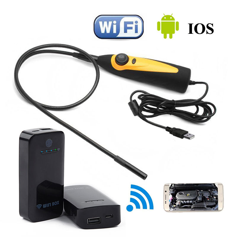 ФОТО 98AS 720P HD USB 2M Endoscope IP67 Waterproof Inspection Camera For Windows7/Vista + WIFI BOX For Above Android 4.4 and IOS 8.0