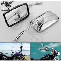 Espejos laterales de gran tamaño para harley davidson, espejo retrovisor de motocicleta, 10mm, piezas de motocicleta, yamaha, honda, suzuki
