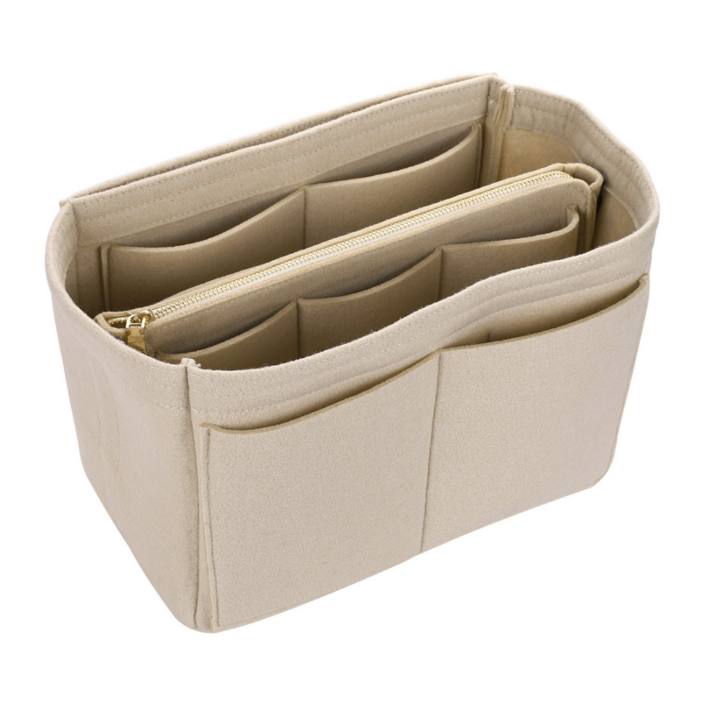Hot Sale Makeup Bag Cosmetic Cases Felt Bag Organizer Insert Cosmetic Bags Makeup Case Travel Toiletry Bag Handbags Organizer