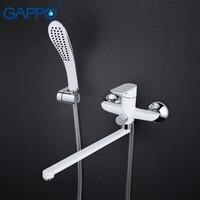 Venta Grifo de bañera gappo, grifos de baño, montaje en pared, mezclador de bañera de latón blanco, mezclador de baño, grifo de lavabo, grifo de cascada GA2248