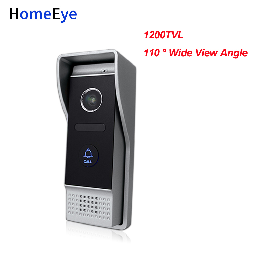 HomeEye 1200TVL 4-Wired Video Door Phone Door Bell Waterproof Wide View Angle Lens Build-in Camera