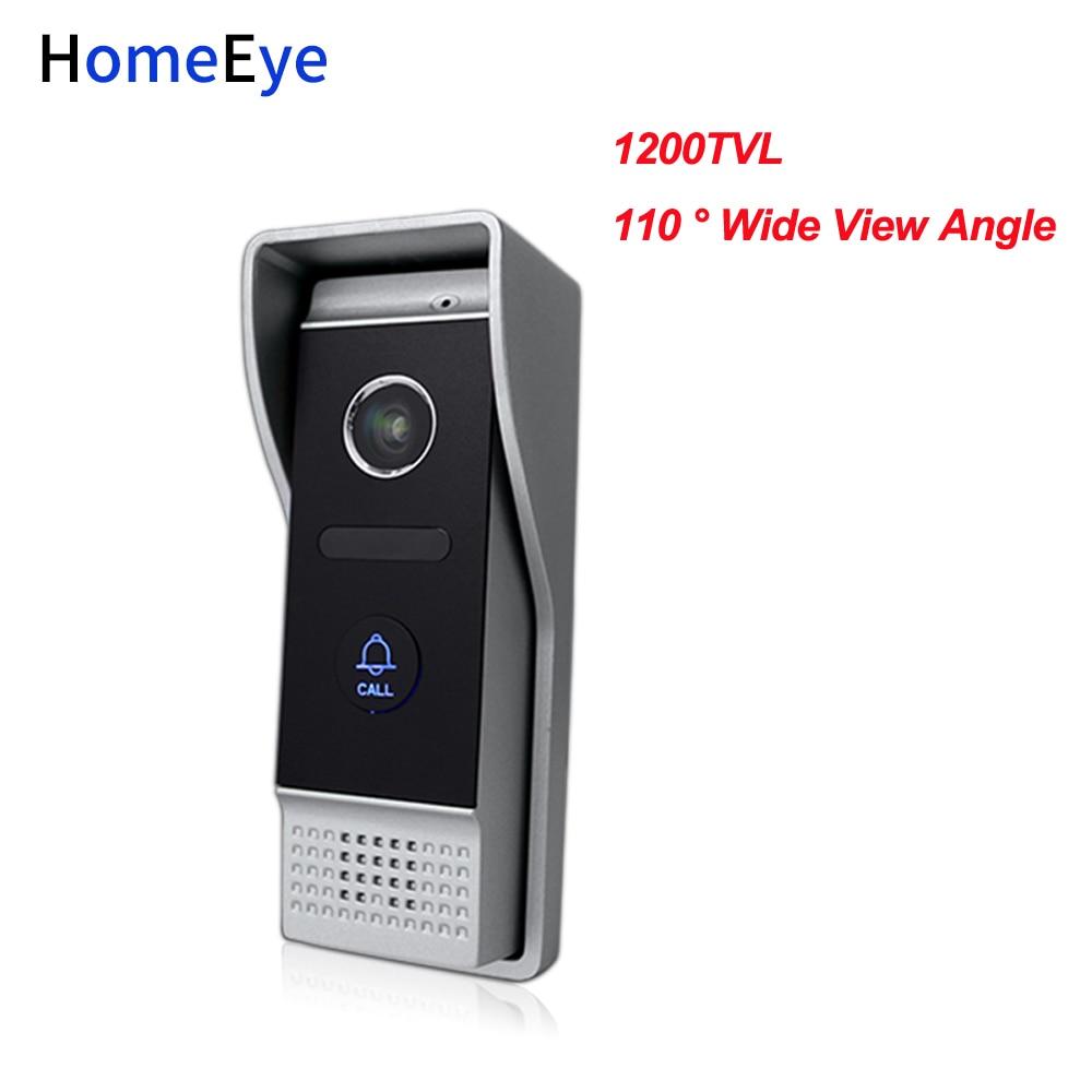 HomeEye 1200TVL 4-Wired Video Door Phone Door Bell Waterproof Wide View Angle Lens Build-in Camera