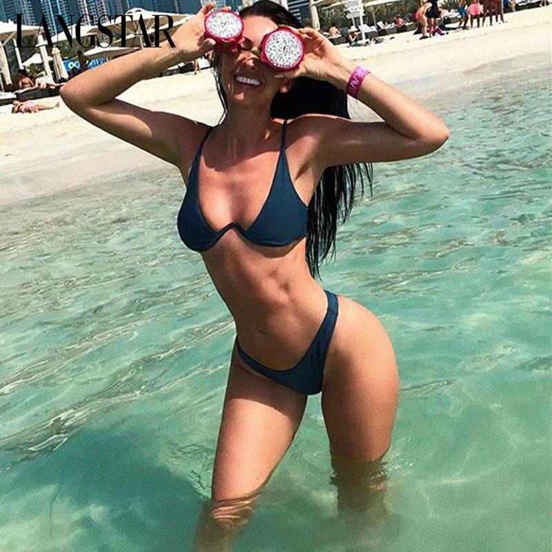 067347fb072f3 Detail Feedback Questions about LANGSTAR Bikinis Set Women's Swimsuit Two  Piece Swimwear Low Waist Push Up Underwired Plunge Swimming Suit Sexy  Brazilian ...