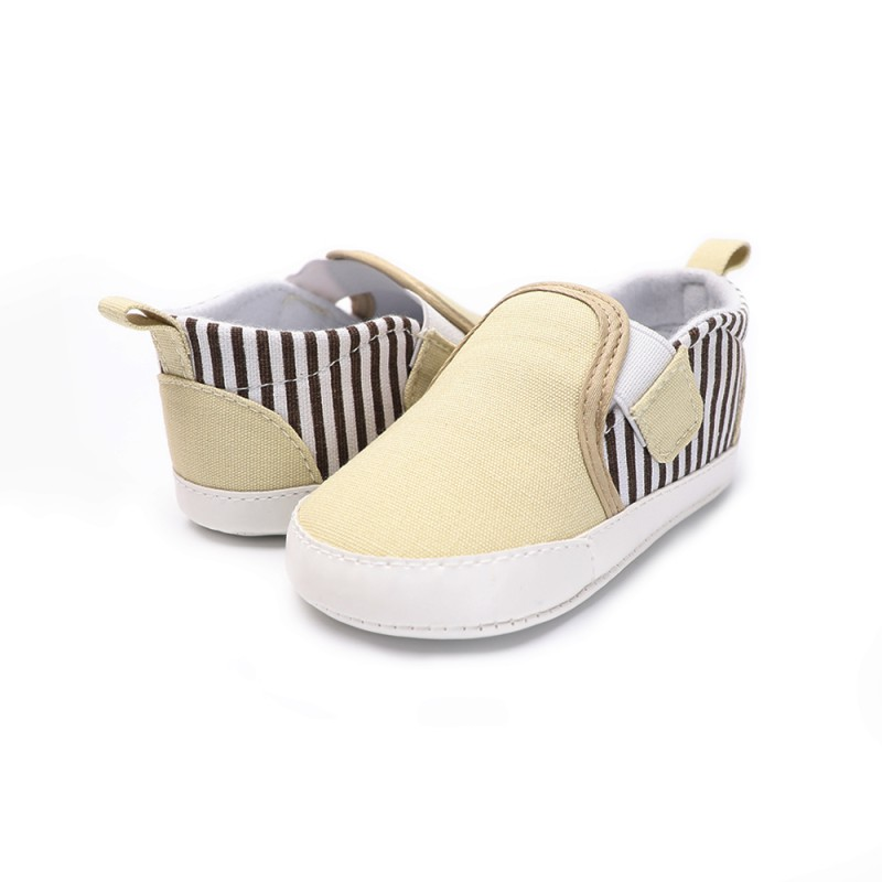 Fashion Baby Shoes Striped Bebe Boys Girls First Walkers Infant Toddler Classic Sports Soft Sole Canvas Shoes Y13