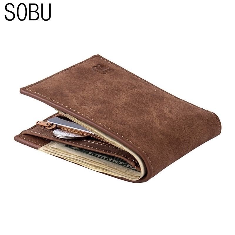 Hot Selling Classic Leather Coin Bag zipper Men's Wallet With New Card Holder Dollar Short Wallet wholesale price K027